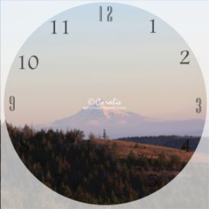 mt hood in the early morning clock template