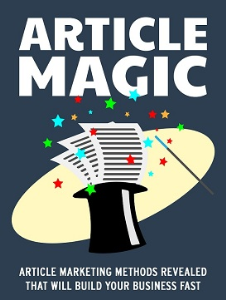 Article marketing: Article Magic   eBooks   Business and Money