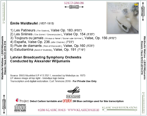First Additional product image for - Waldteufel Waltzes - Latvian Broadcasting Symphony Orchestra/Alexander Wijumanis
