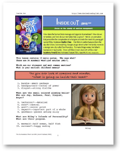 INSIDE OUT, Whole-Movie English (ESL) Lesson | eBooks | Education