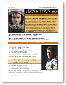 THE MARTIAN, Whole-Movie English (ESL) Lesson | eBooks | Education
