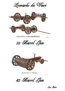 da Vinci Multi Barreled Gun models | Other Files | Everything Else