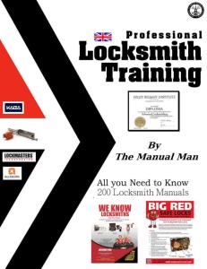 Locksmith Secrects 200 Pro Training Manuals | eBooks | Education