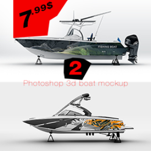 boat mockup  template | Photos and Images | Clip Art
