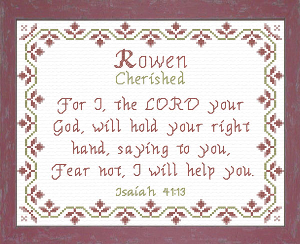 Name Blessings - Rowen   Crafting   Cross-Stitch   Other