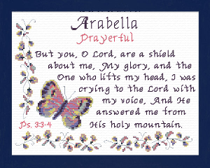Name Blessings - Arabella 2 | Crafting | Cross-Stitch | Religious