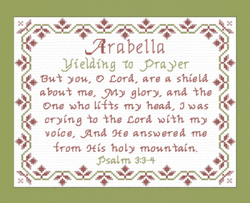 First Additional product image for - Name Blessings - Arabella 3