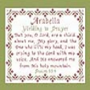 Name Blessings - Arabella 3 | Crafting | Cross-Stitch | Religious