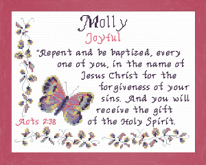 Name Blessings - Molly | Crafting | Cross-Stitch | Other