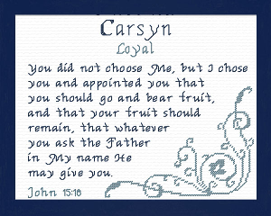 Name Blessings - Carsyn | Crafting | Cross-Stitch | Religious