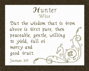 Name Blessings - Hunter | Crafting | Cross-Stitch | Religious