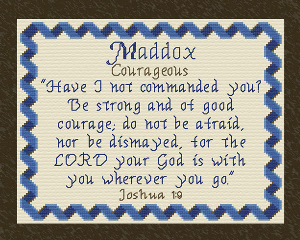 Name Blessings - Maddox | Crafting | Cross-Stitch | Wall Hangings