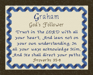 Name Blessings - Graham   Crafting   Cross-Stitch   Other
