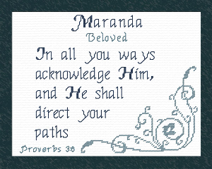 Name Blessings - Maranda | Crafting | Cross-Stitch | Other