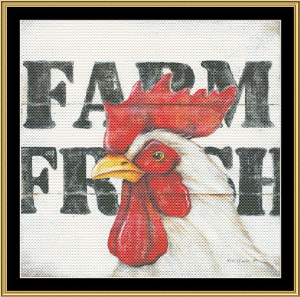 Farm Fresh | Crafting | Cross-Stitch | Wall Hangings