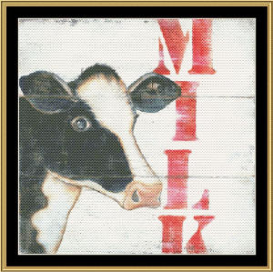 Milk | Crafting | Cross-Stitch | Wall Hangings