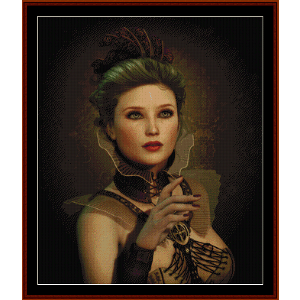Steampunk Fashion Lady - Fantasy cross stitch pattern by Cross Stitch Collectibles | Crafting | Cross-Stitch | Wall Hangings