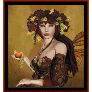 Autumn Fantasy - Fantasy cross stitch pattern by Cross Stitch Collectibles | Crafting | Cross-Stitch | Wall Hangings