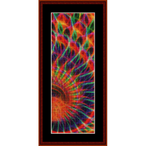 fractal 558 bookmark cross stitch pattern by cross stitch collectibles