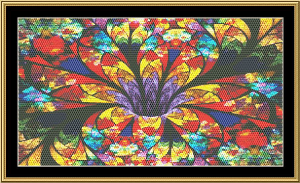 Fractal Unlimited 210 | Crafting | Cross-Stitch | Wall Hangings
