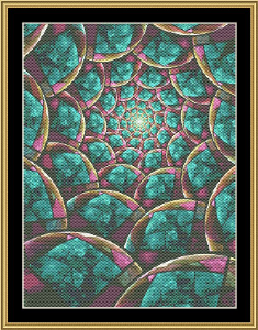 Fractal Unlimited 30 | Crafting | Cross-Stitch | Wall Hangings