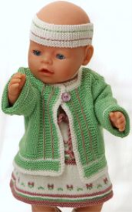 DollKnittingPatterns 0147D SOPHIA - Kleid, Jacke, Unterhose, Socken und Haarband-(Deutsch)   Crafting   Knitting   Other