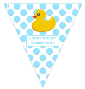 lucky ducky:  mommy to be (boy) - template
