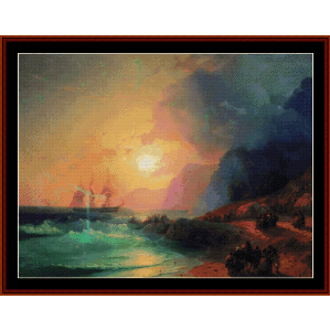 On the Island of Crete, 1867 - Aivazovsky cross stitch pattern by Cross Stitch Collectibles | Crafting | Cross-Stitch | Wall Hangings