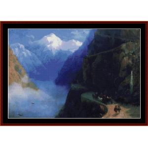 Road to Gudauri, 1868 - Aivazovsky cross stitch pattern by Cross Stitch Collectibles | Crafting | Cross-Stitch | Other