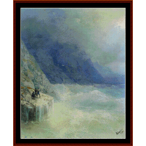 Rocks in the Mist, 1890 - Aivazovsky cross stitch pattern by Cross Stitch Collectibles | Crafting | Cross-Stitch | Wall Hangings