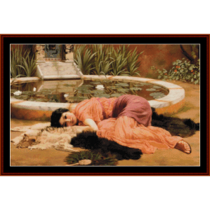 Dolce Far Niente, 1904 - Godward cross stitch pattern by Cross Stitch Collectibles | Crafting | Cross-Stitch | Wall Hangings