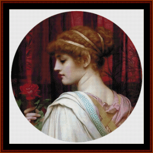 Girl with Red Rose, 1902 - Godward cross stitch pattern by Cross Stitch Collectibles | Crafting | Cross-Stitch | Wall Hangings