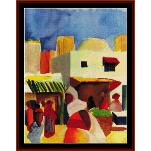 Market in Algiers - Macke cross stitch pattern by Cross Stitch Collectibles | Crafting | Cross-Stitch | Wall Hangings