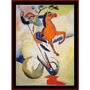 St. George - Macke cross stitch pattern by Cross Stitch Collectibles | Crafting | Cross-Stitch | Wall Hangings