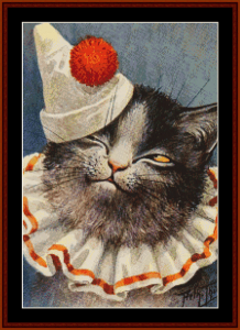 Clown Cat - Vintage Art cross stitch pattern by Cross Stitch Collectibles | Crafting | Cross-Stitch | Animals