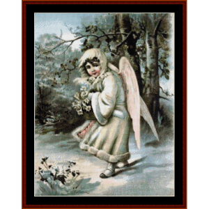 christmas angel - vintage art cross stitch pattern by cross stitch collectibles