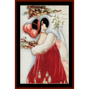 buon anno - vintage art cross stitch pattern by cross stitch collectibles
