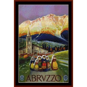 Abruzzo - Vintage Poster cross stitch pattern by Cross Stitch Collectibles | Crafting | Cross-Stitch | Wall Hangings
