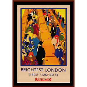 London - Vintage Poster cross stitch pattern by Cross Stitch Collectibles | Crafting | Cross-Stitch | Wall Hangings