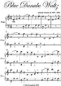 blue danube waltz easy piano sheet music