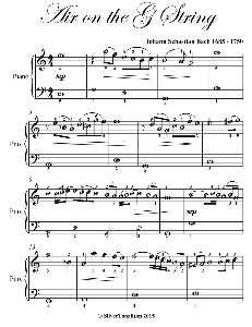 air on the g string easiest piano sheet music