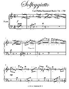 solfeggietto easy piano sheet music