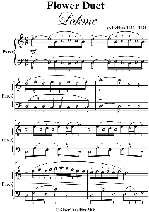 flower duet easy piano sheet music