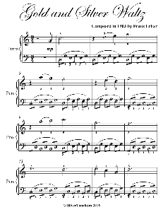 gold and silver waltz easy piano sheet music
