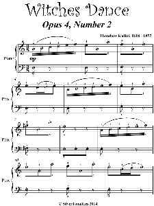 witches dance easy piano sheet music