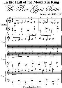 in the hall of the mountain king easy piano sheet music