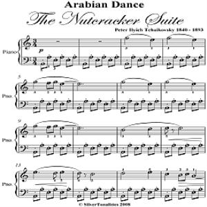 arabian dance easy piano sheet music