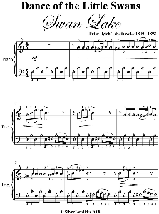 dance of the lilttle swans elementary piano sheet music