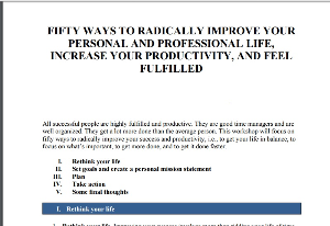 fifty ways to radically improve your personal
