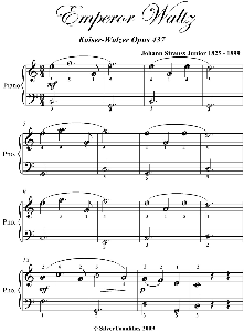 emperor waltz easiest piano sheet music